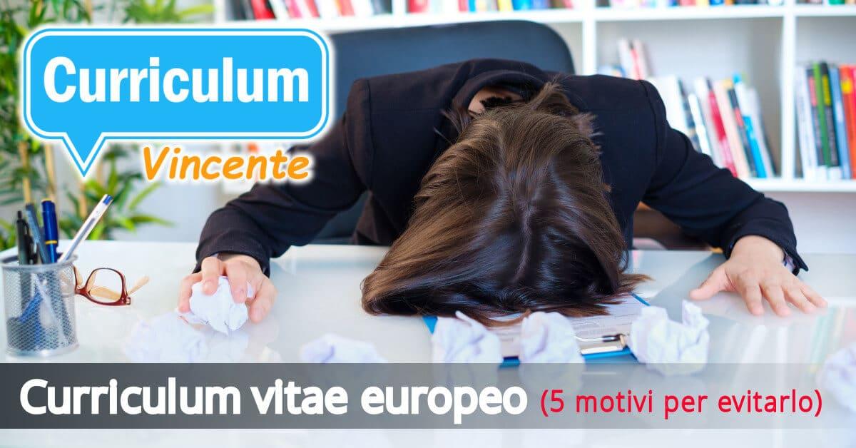 Curriculum Vitae Europeo E Ancora Utile Nel 2019 Il Curriculum